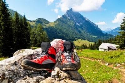 Bergschuhe beim Bergwandern